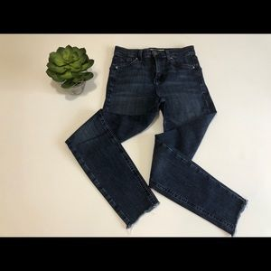 Topshop Moto Jamie High Rise Raw Hem Skinny Jeans